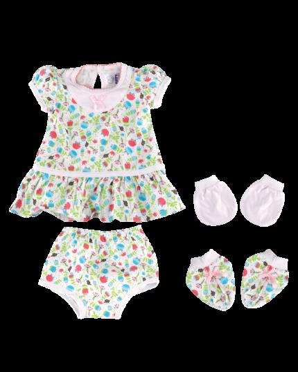 Fiffy  Girl  Newborn Baby Gift Set (4pcs) - 1077