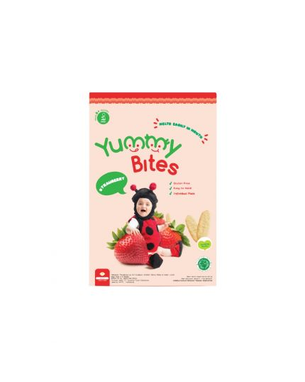 Yummy Bites Baby Rice Crackers - Strawberry Flavour (6M+)