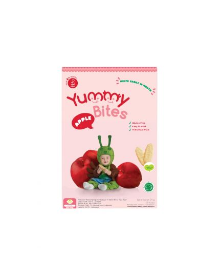 Yummy Bites Baby Rice Crackers - Apple Flavour (6M+)