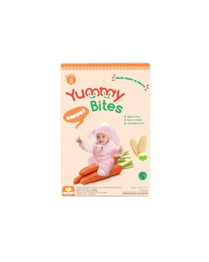 Yummy Bites Baby Rice Crackers - Carrot Flavour (6M+)