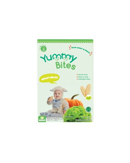 Yummy Bites Baby Rice Crackers - Vegetable Flavour (6M+)