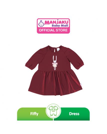 Fiffy Girl Baby Wear Dress - Maroon (2321039)