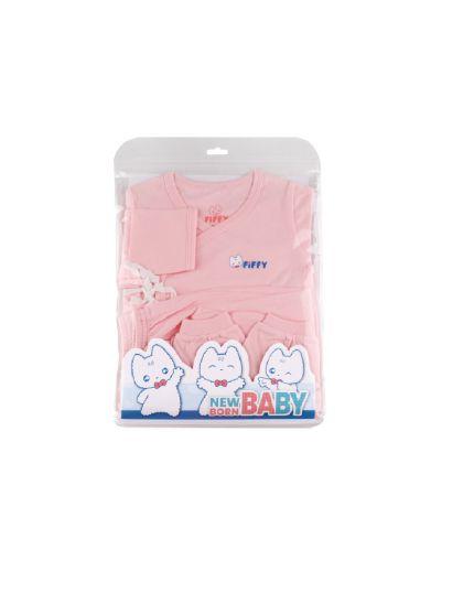 Fiffy Girl Basic Wear Long Sleeve with Mitten Cuff + Leggy & Mitten Suit Pink - 1320006