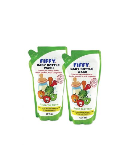 Fiffy Bottle Wash Refill Pack Twin Pack (2 x 600ml) - Assorted Flavor