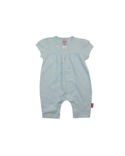 BeBe G Round Neck Short Slevee Romper-Light Blue (CBN2038004-LB)