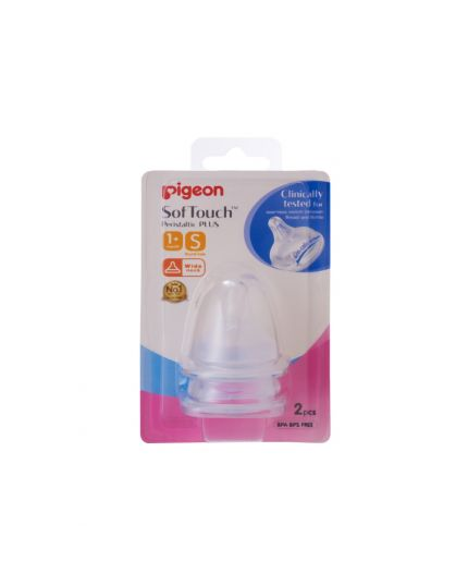 Pigeon SofTouch™ Peristaltic PLUS (Wide-Neck) - Nipple  S