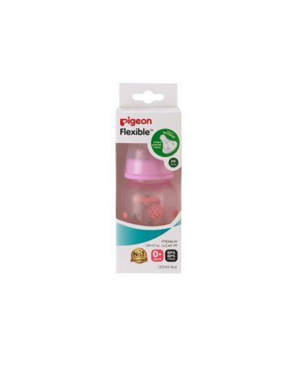Pigeon lexible™ Nursing PP Bottle (Slim-Neck) - 120ml (Heart Design)