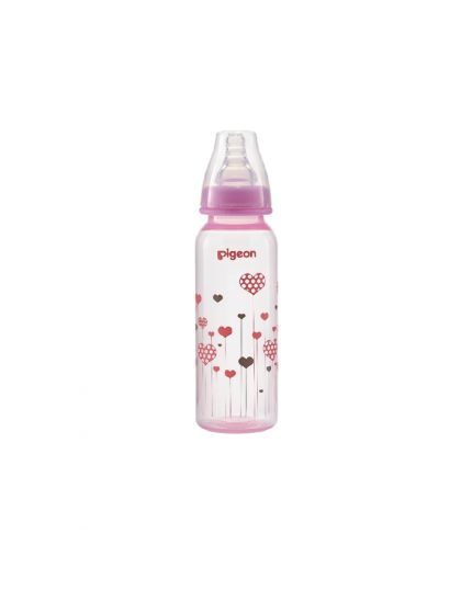 Pigeon Flexible™ Nursing PP Bottle (Slim-Neck) - 240ml (Heart Design)