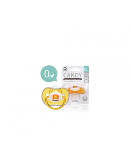 Simba Candy Thumb Shape Pacifier - Yellow