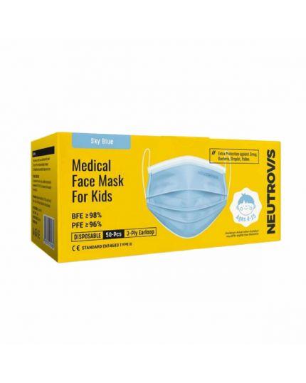 Neutrovis Kids M.Face Mask - Sky Blue (50's)