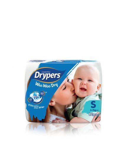 Drypers Wee Wee Dry Tape Mega Pack - S/M/L/XL/XXL