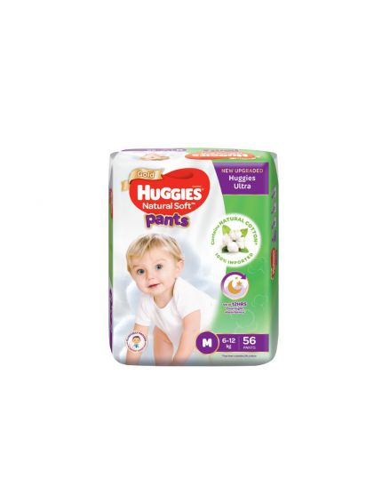 Huggies Ultra Natural Soft Unisex Pants Super Jumbo Pack - M/L/XL/XXL