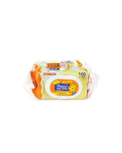 Pureen Baby Wipes (2 x 100's) - Fragrance Free