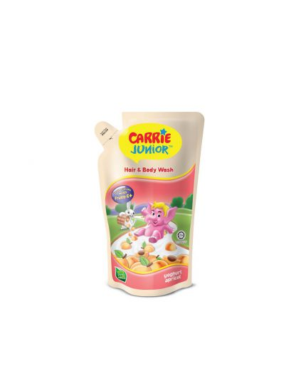 Carrie Junior Baby Hair & Body Wash Refill Pack Pouch (475g) - Assorted Flavour
