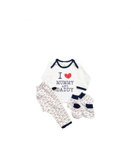 Anakku Boy I Love Mom n Dad 4 In 1 Giftset - (120065-1(001)