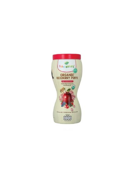 Baby Natura Organic Riceberry Puffs 40g - Apple with Berries