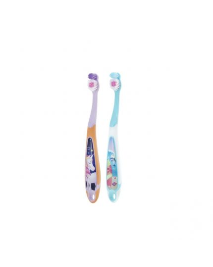 Jordan Kids Step 3 Soft Toothbrush (Age 6-9) [Twin Pack] - Assorted Colour
