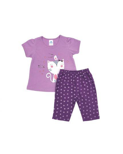 Anakku Girl Suit Set Purple (K3-4222-A)