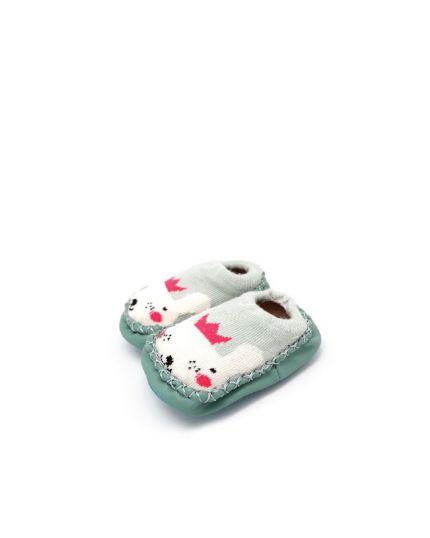 Kidee Baby Socks Shoes - Light Green Rabbit (KD-BS001-2)