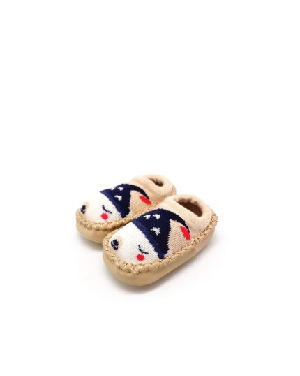 Kidee Baby Socks Shoes - Khaki Bear (KD-BS001-1)
