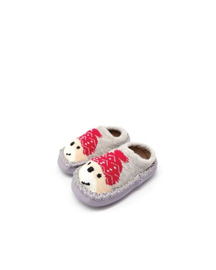 Kidee Baby Socks Shoes - Light Grey Dog (KD-BS001-3)