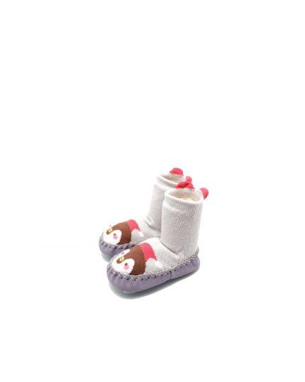 Kidee Baby Socks Shoes - Grey Penguin (KD-BS002-1)