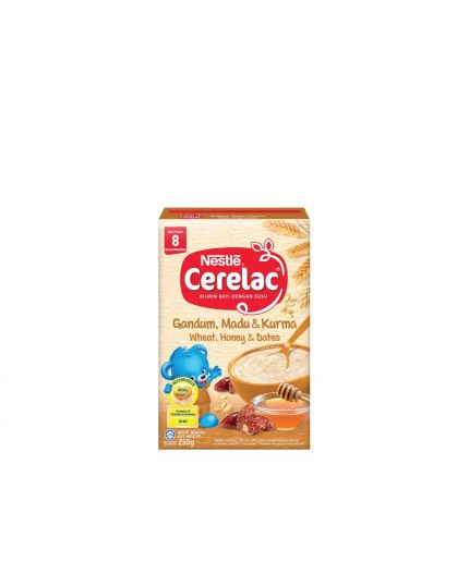 Nestle Cerelac Infant Cereals with Milk Wheat + Honey + Dates (250g)