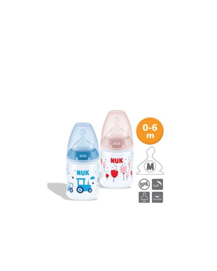 NUK PCH PP Bottle with Temperature Control (150ml x 2) - Assorted Colors