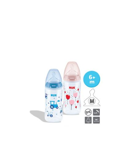 NUK PCH PP Bottle with Temperature Control (300ml x 2) - Assorted Colors
