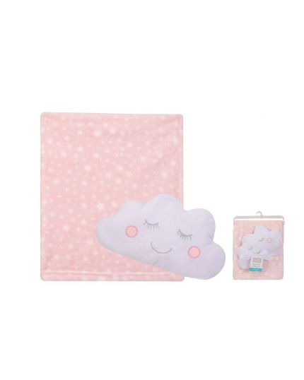 Hudson Baby Security Blanket Set - Pink Cloud (52153)