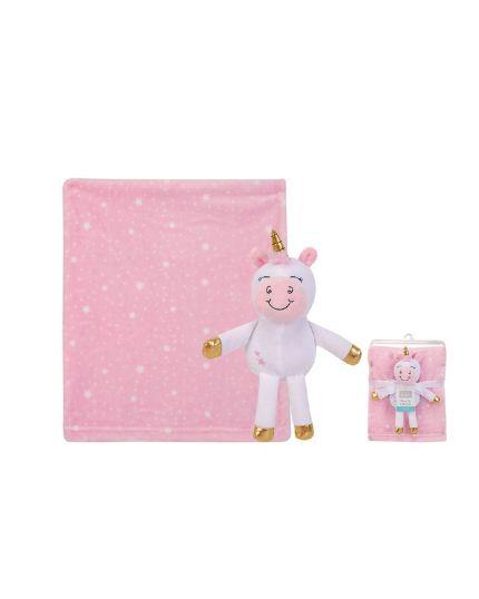 Hudson Baby Security Blanket Set - Unicorn (52154)