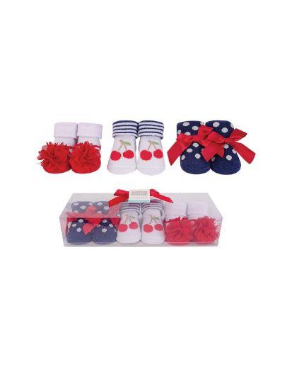 Hudson Baby Socks Gift Set 3pairs - Cherry (58294)