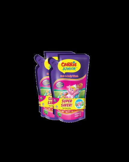 Carrie Junior Baby Hair & Body Wash Refill Twin Packs x 2 (500g x 4) - Cheeky Cherry