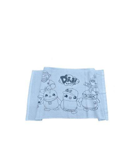 Didi & Friends Kids Male Printed Velvet Towel Blue (978-1-117-0044-49)