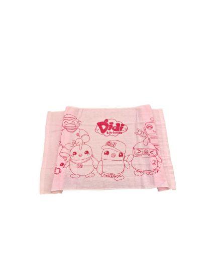 Didi & Friends Kids Female Printed Velvet Towel Pink (978-1-117-0045-19)