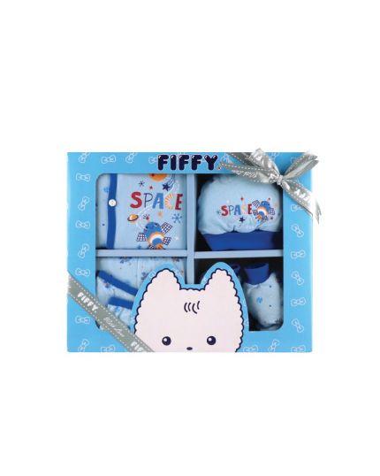 Fiffy Newborn Baby Gift Set (5pcs) Blue - 18268