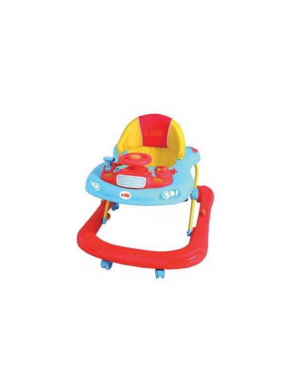 Sweet Heart Paris Baby Walker with Toy Tray - Blue (Model: BW6968)